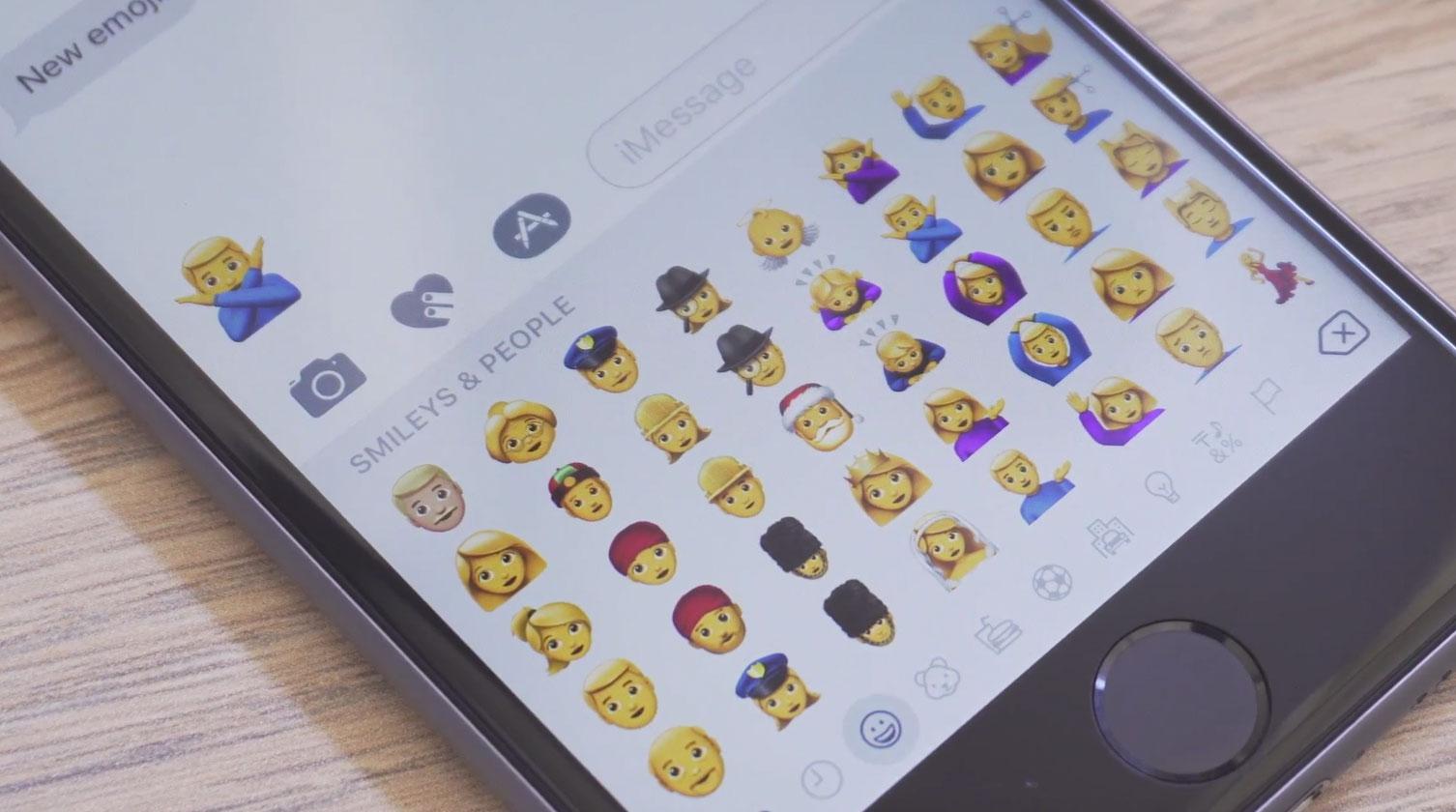 Más emojis en iOS 10