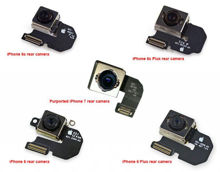 Supuesto módulo de cámara del iPhone 7