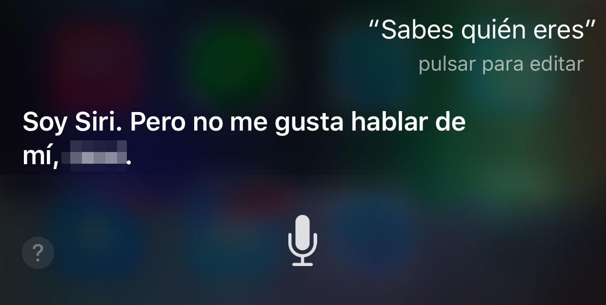 Siri hablando sobre sí misma