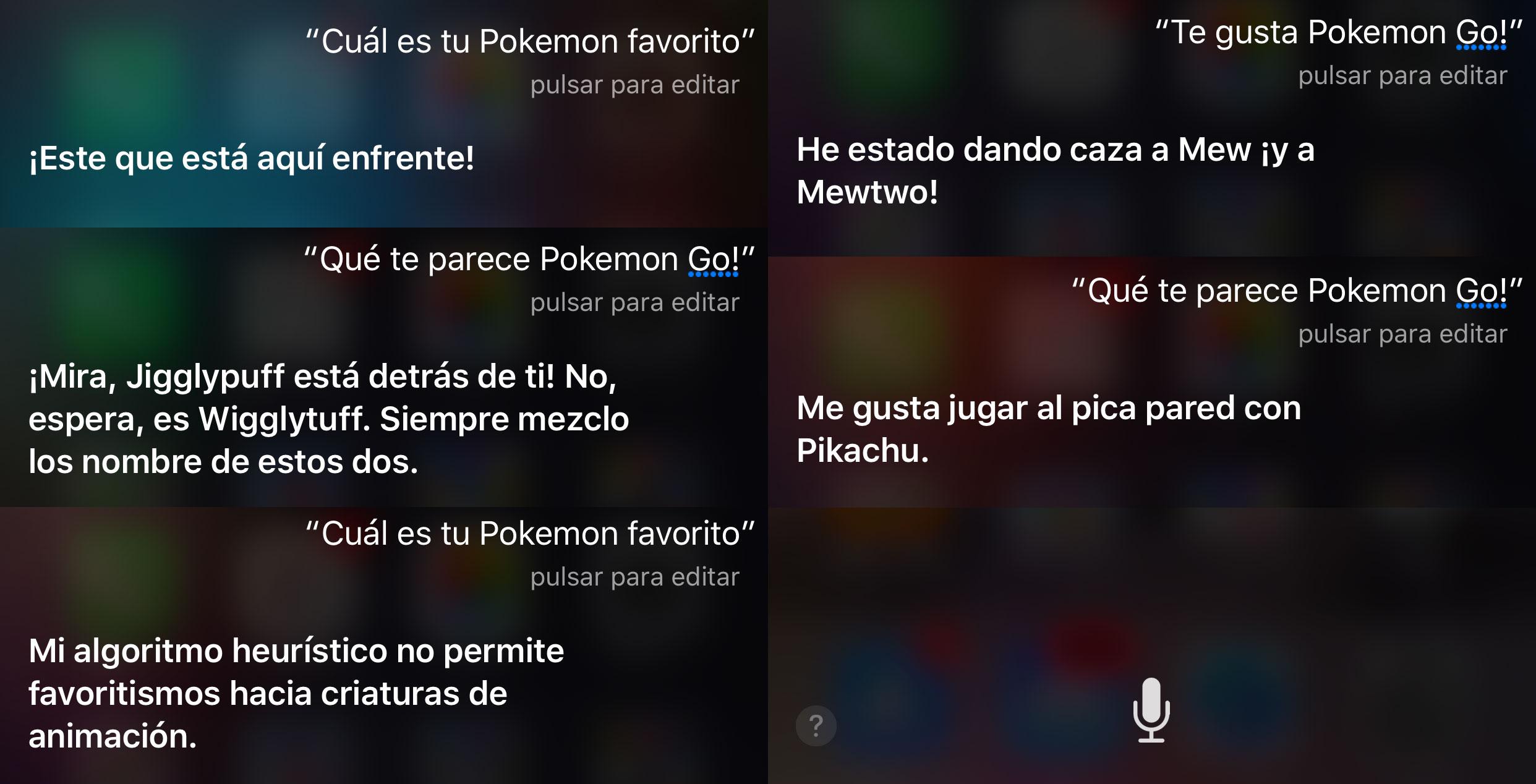 Siri contestando cosas divertidas sobre Pokémon Go