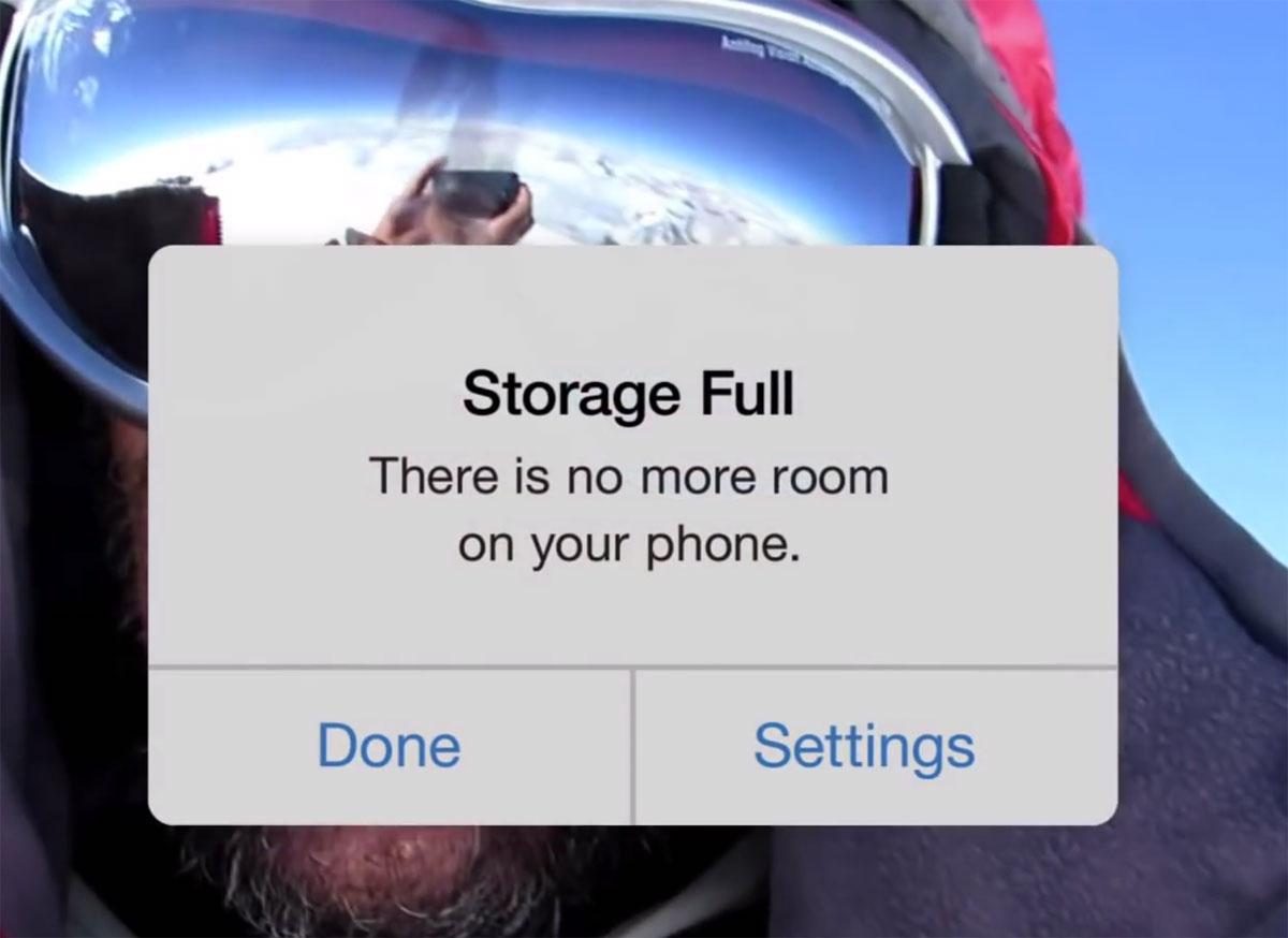 Sin espacio en el iPhone