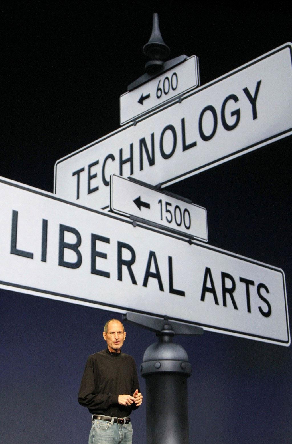 Steve Jobs hablando de la intersección arte y la tecnología