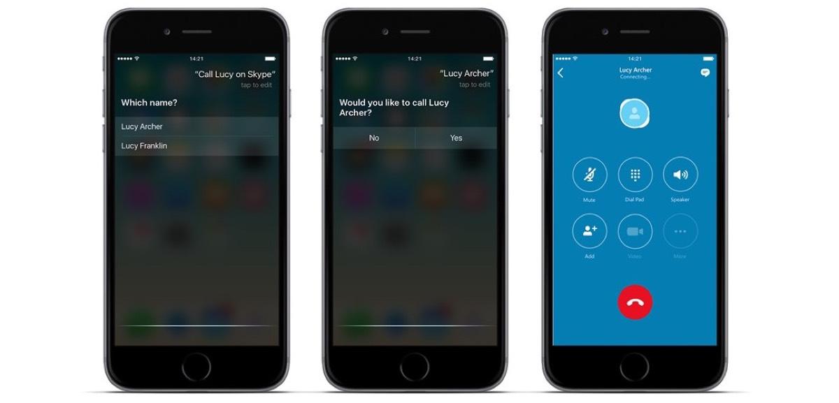 Skype con CallKit y Siri
