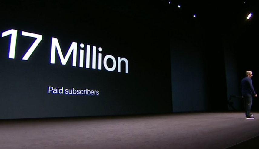 Tim Cook anuncia que Apple™ Music ha alcanzado los diecisiete millones de suscripciones