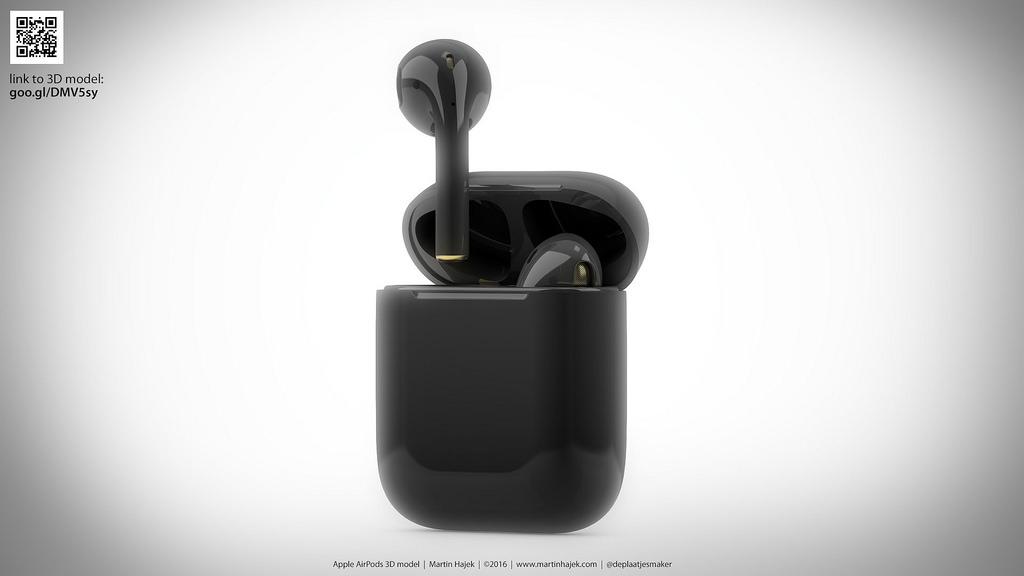 AirPods de color negro (concepto de boceto de Martin Hajek)