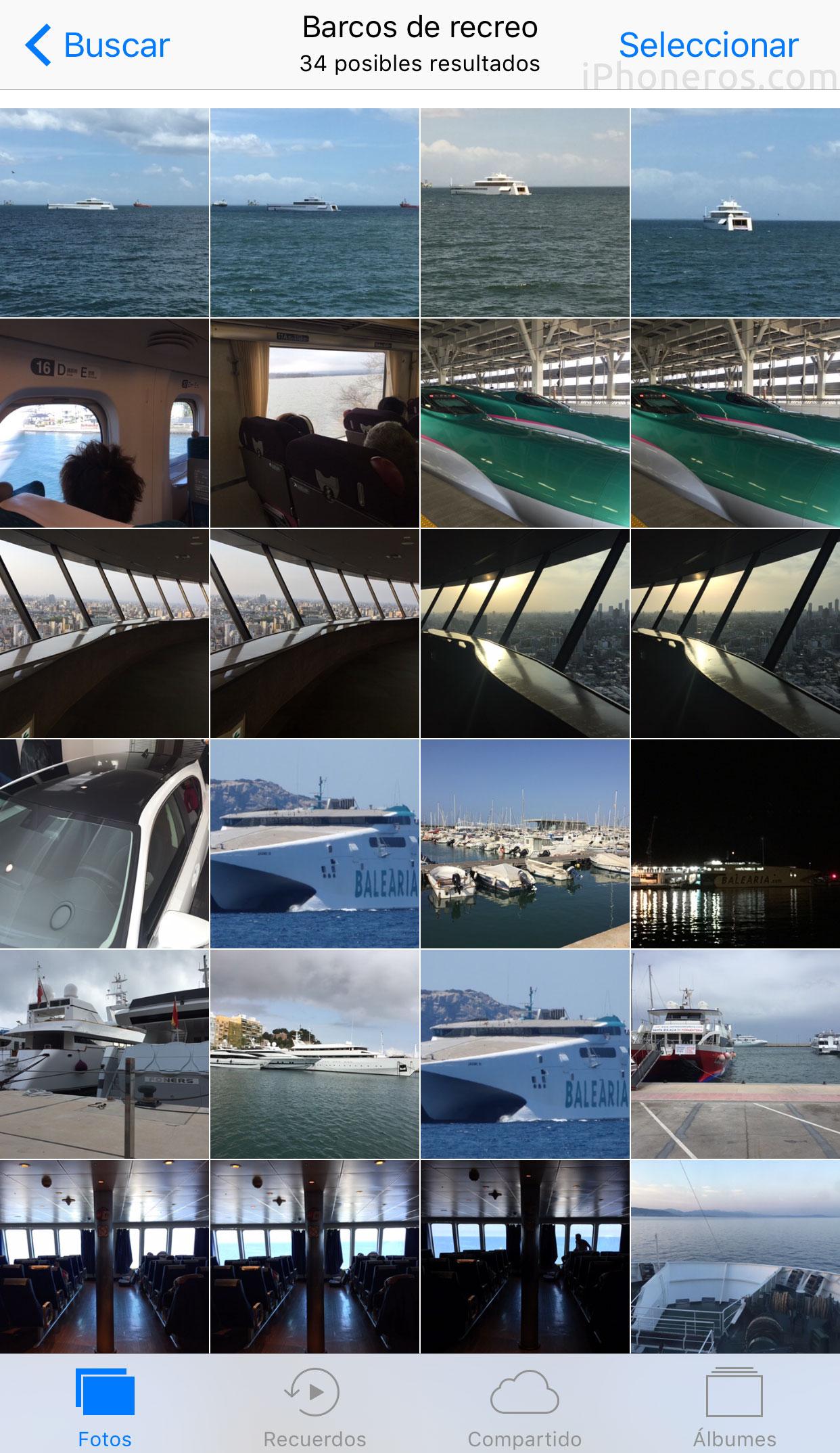 Barcos de recreo encontrados en el carrete de fotos