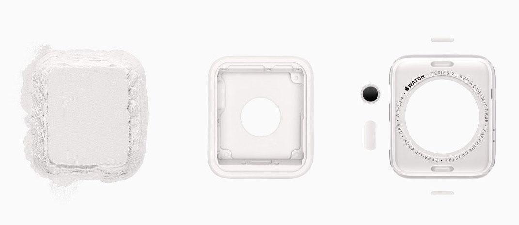 Carcasa Unibody del Apple Watch 2 Edition de cerámica