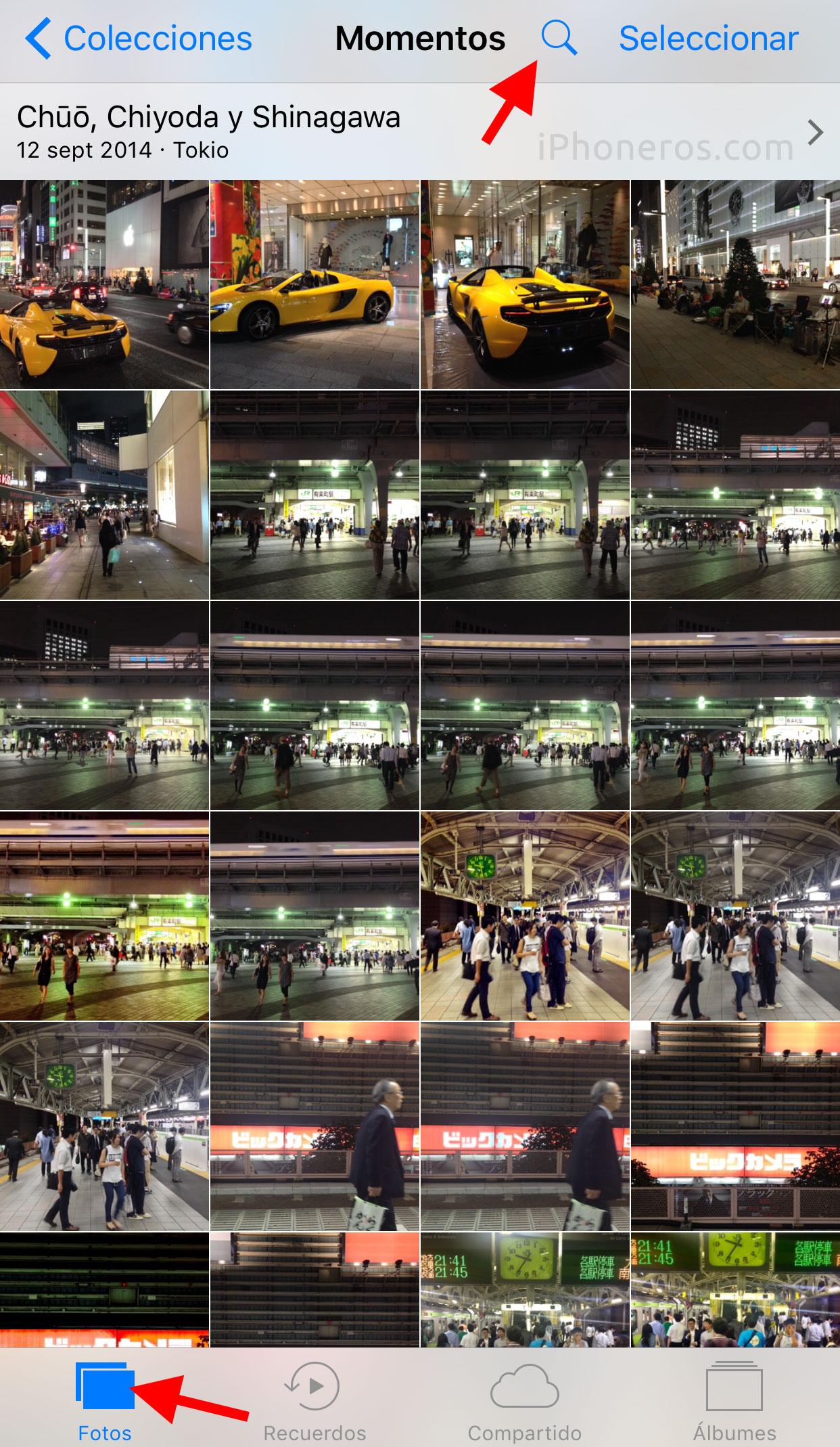 App de Fotos de iOS™ diez y su explorador semántico