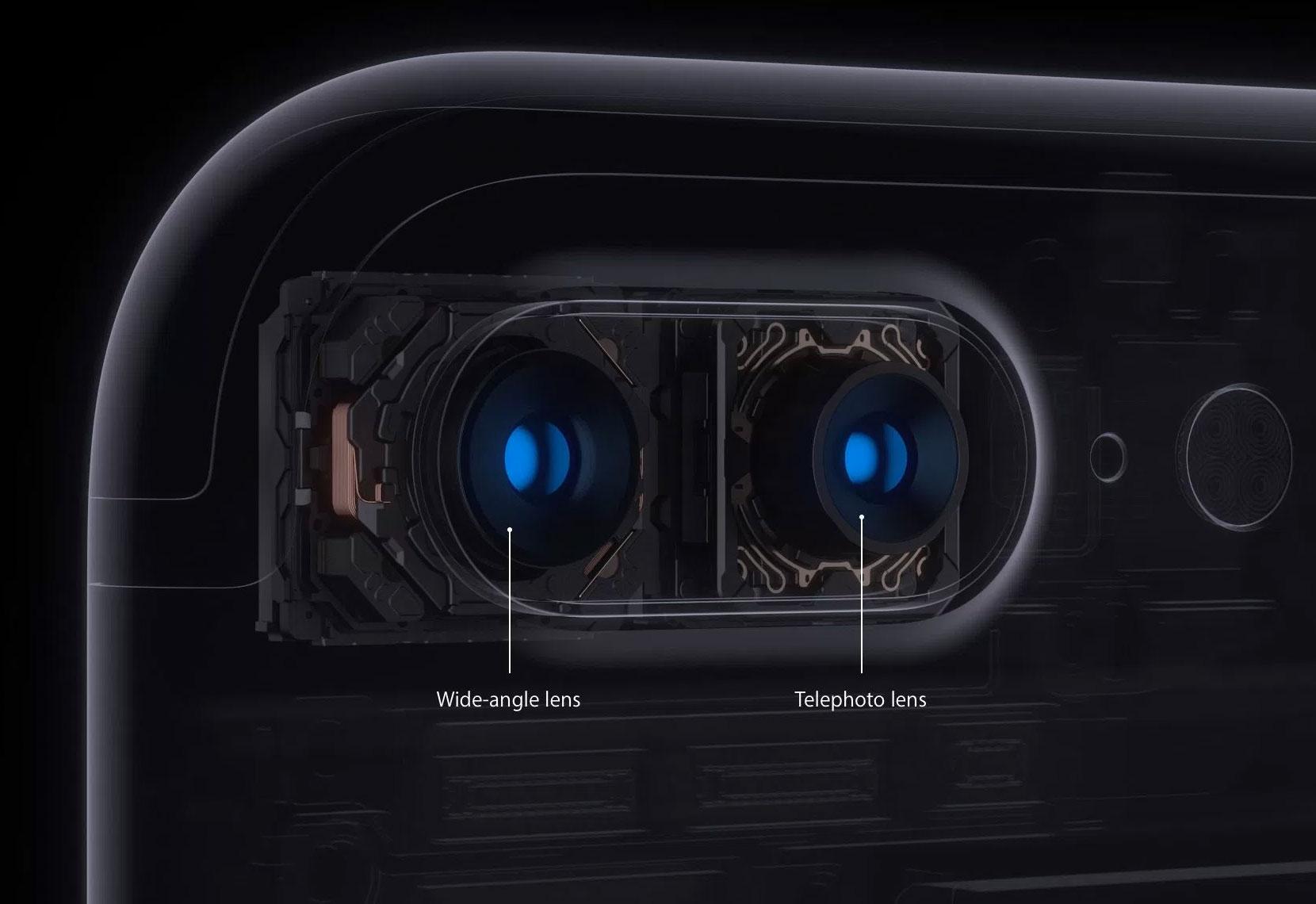 Cámara doble del iPhone siete Plus