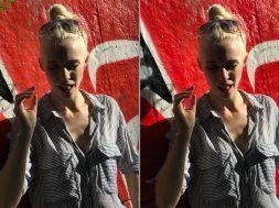 Diferencia de la gama cromática ampliada de la cámara del iPhone 7