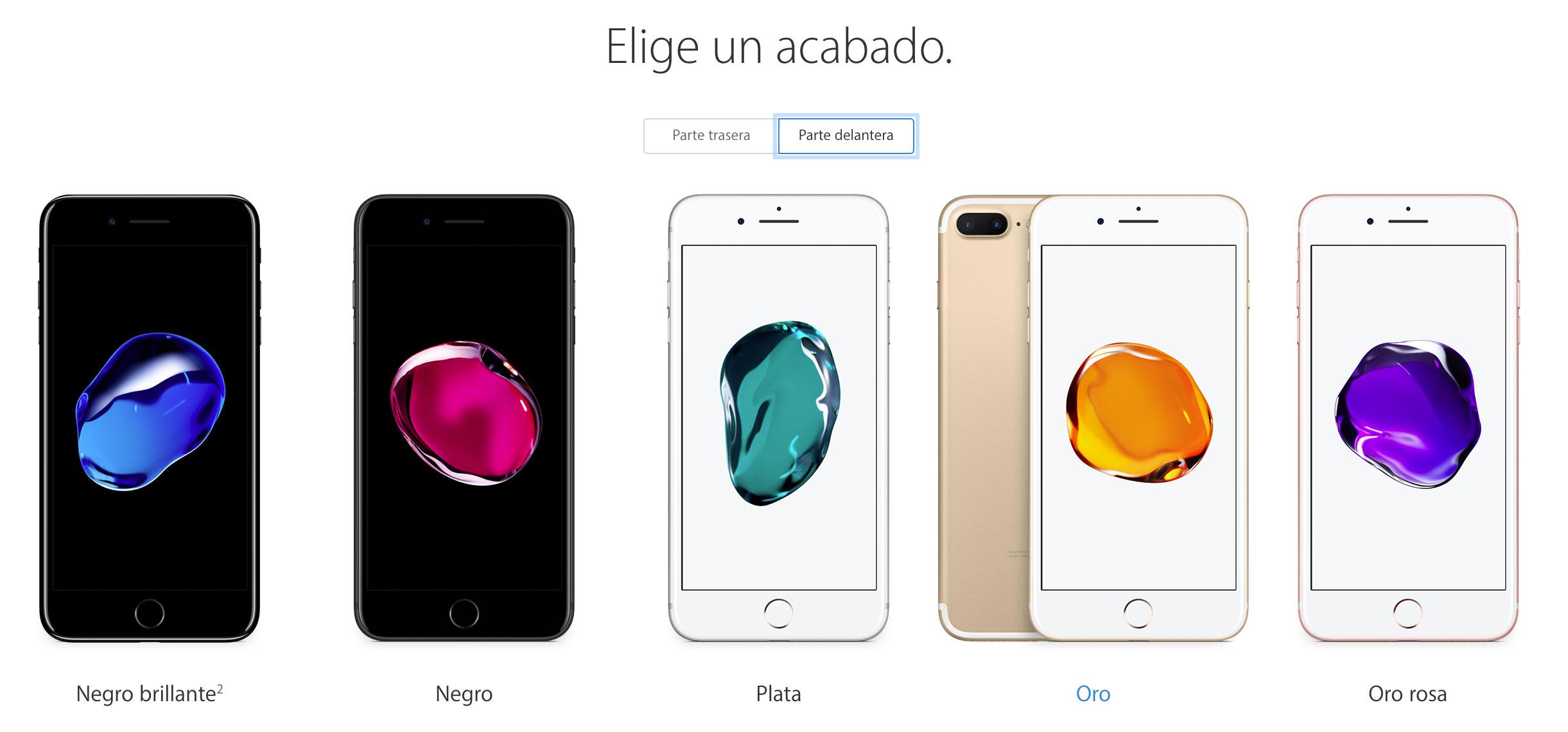 iPhone 7 con sus burbujas de colores