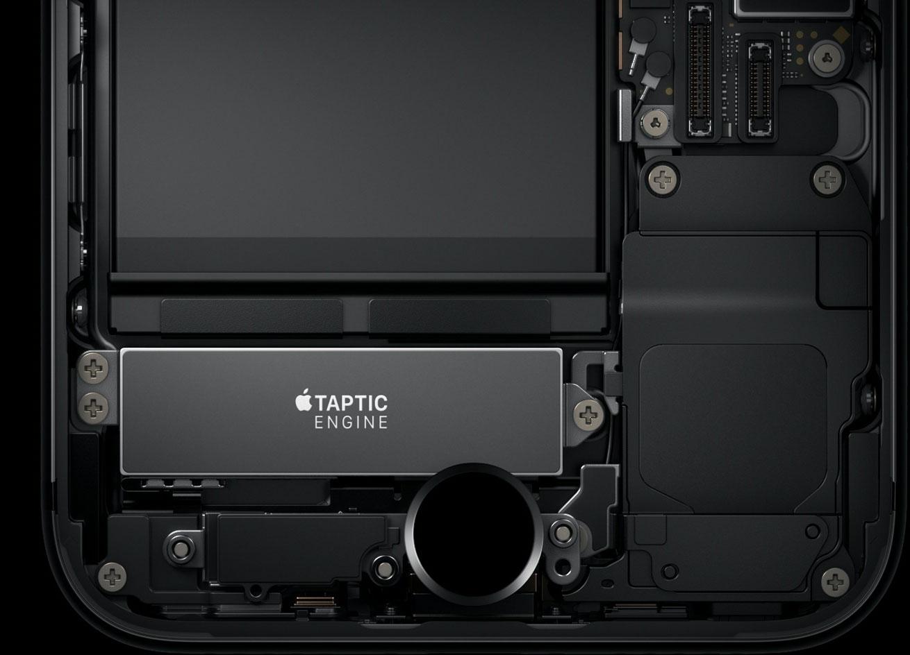Motor háptico en el botón Home táctil del iPhone 7