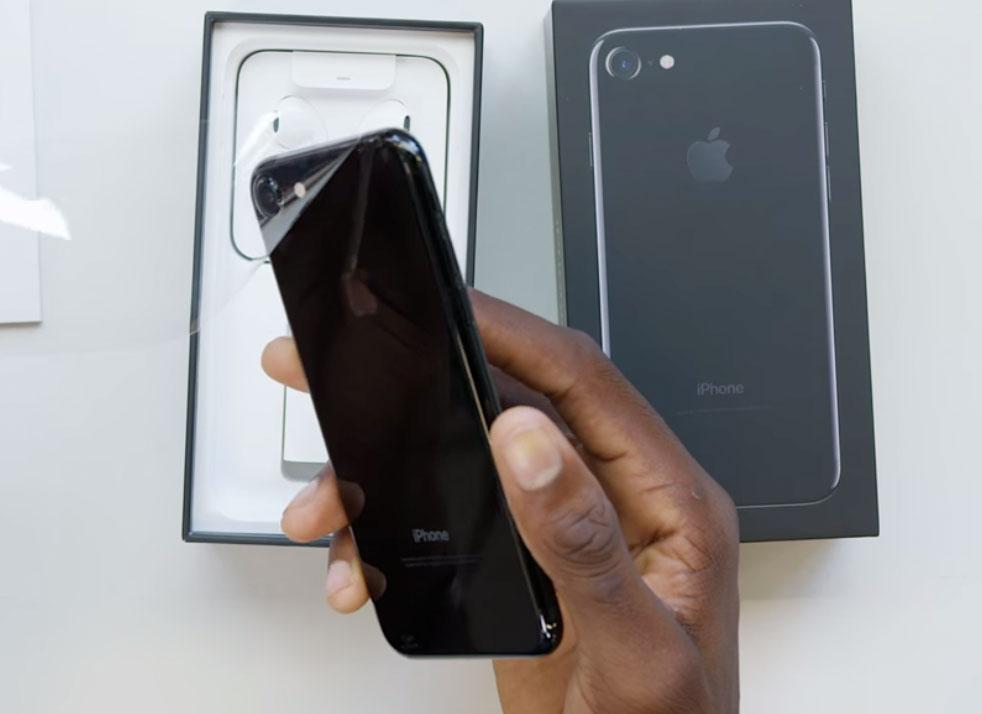 iPhone siete negro brillante