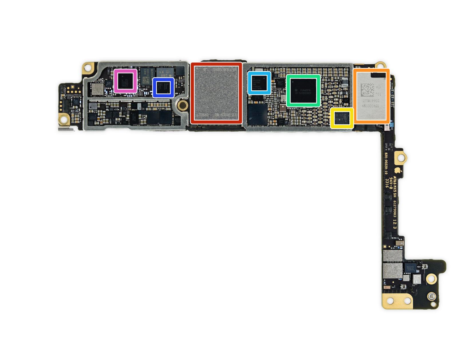 Placa base del iPhone siete Plus