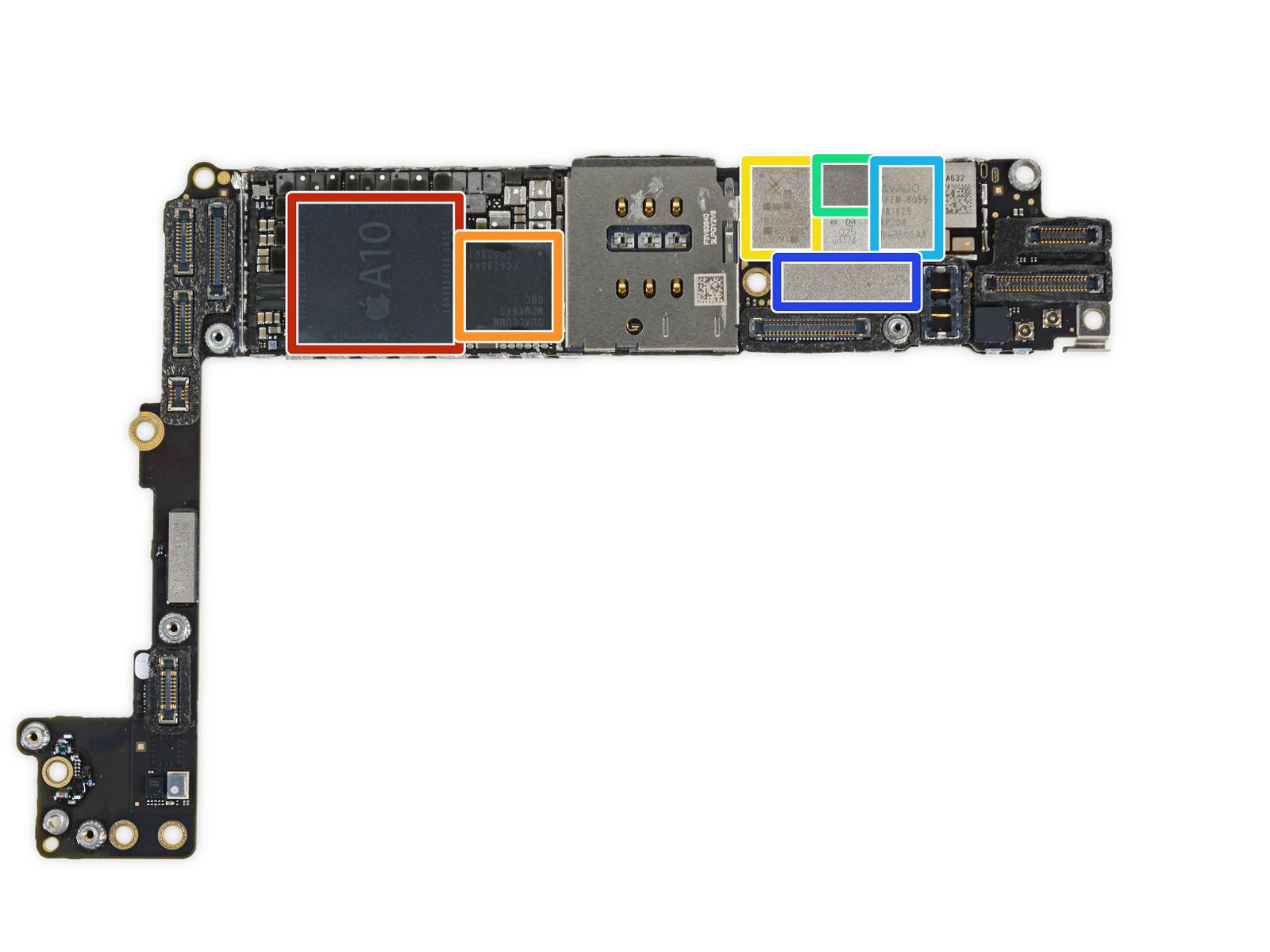 Placa base del iPhone 7 Plus