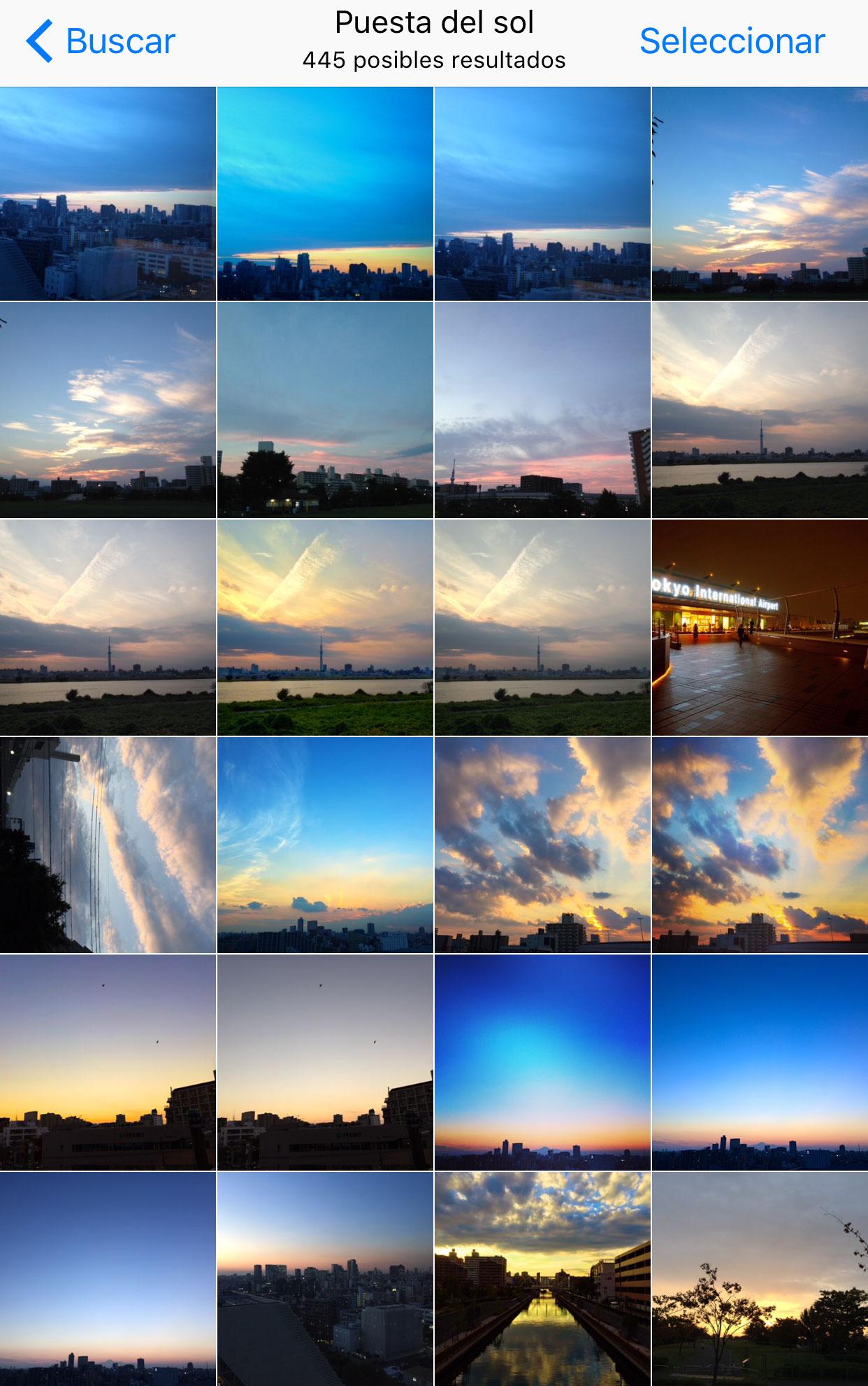 Encontrando Puestas de Sol con la App de Fotos en iOS™ 10