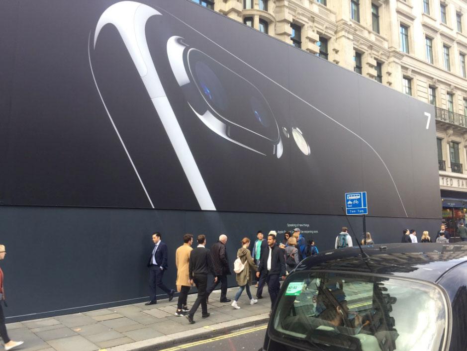 Mural de la remodelación de la Apple Store de Regent Street