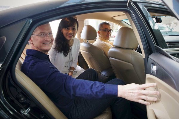 Tim Cook y Jean Liu de Didi Chuxing