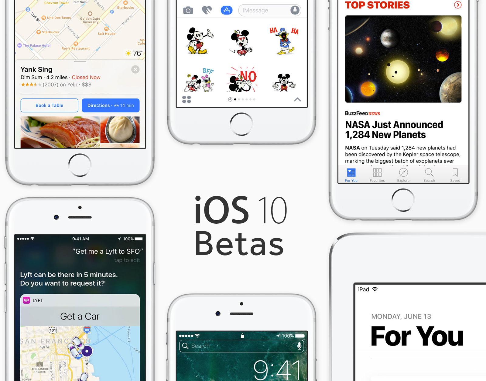 Betas de iOS™ 10