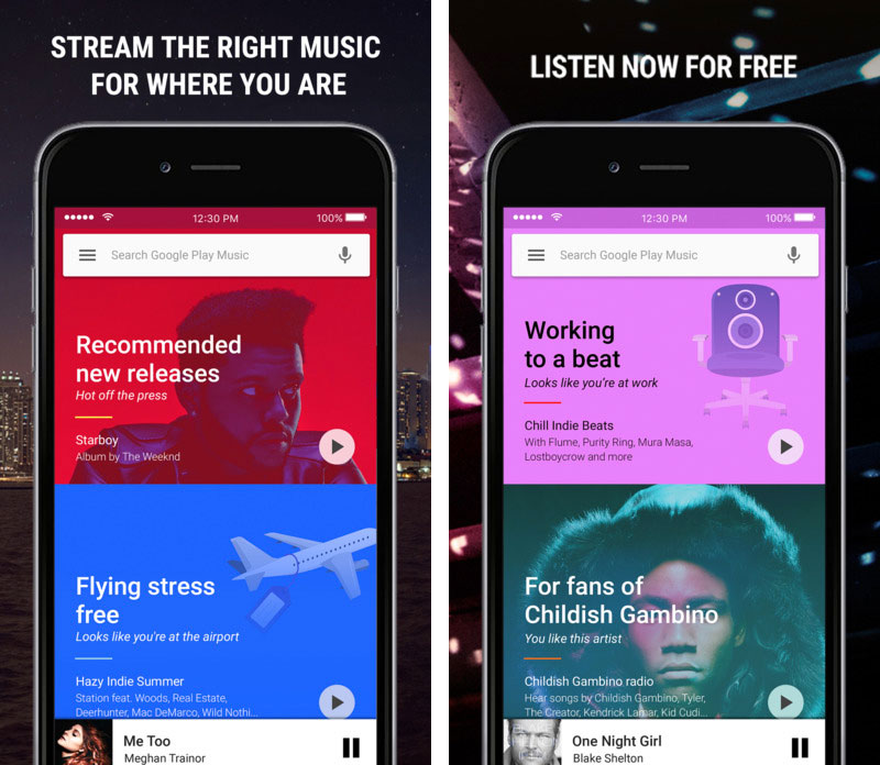 Google Play Music para iOS