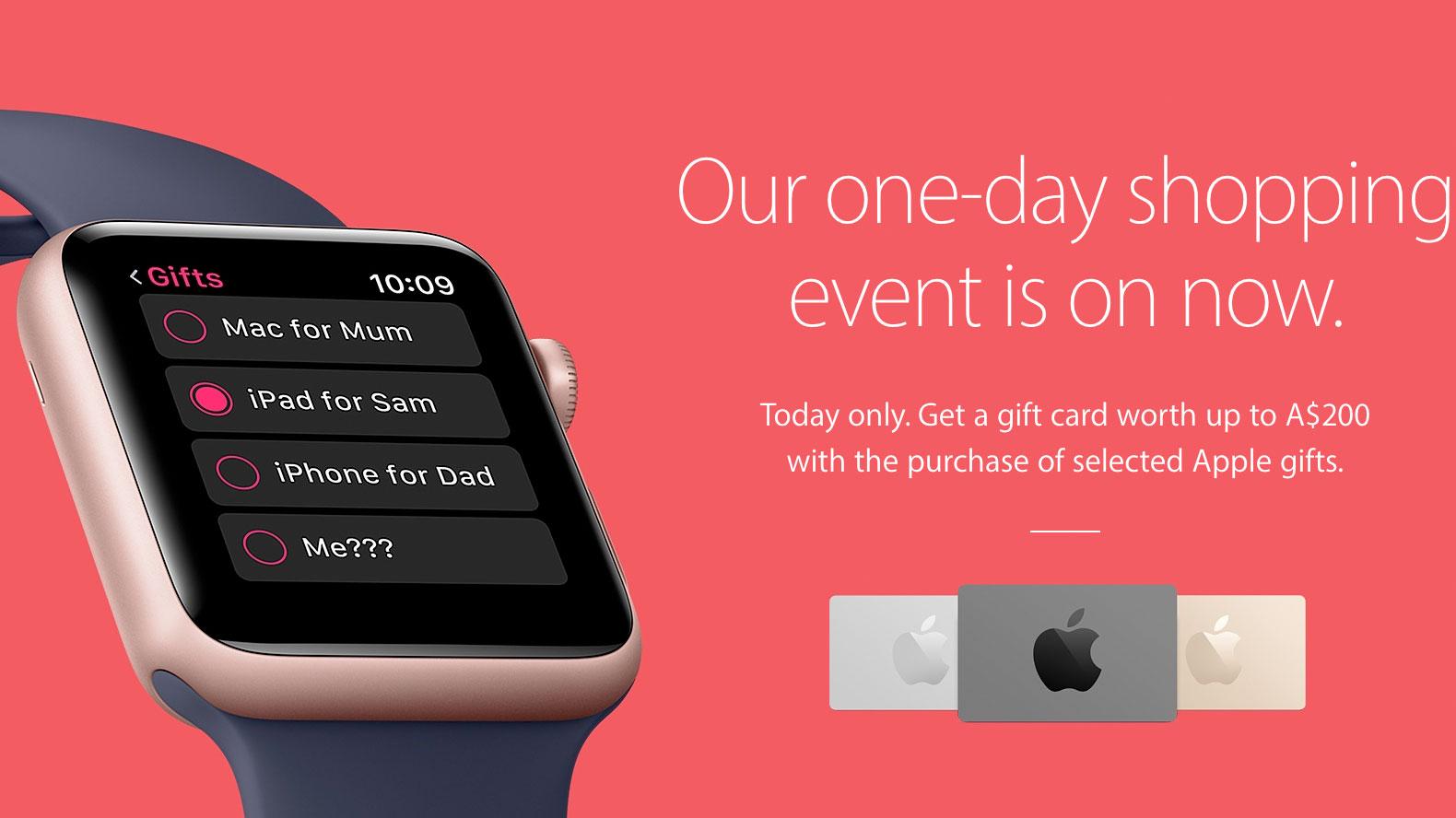 Oferta de Black Friday de Apple para el 2016