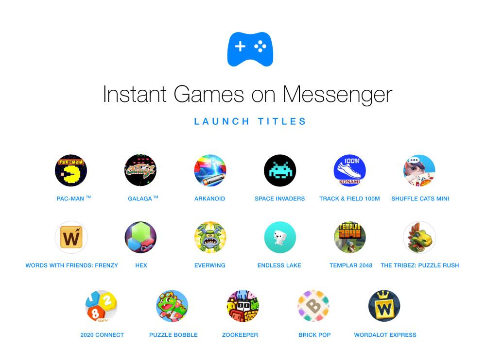 Juegos en Facebook™ Messenger