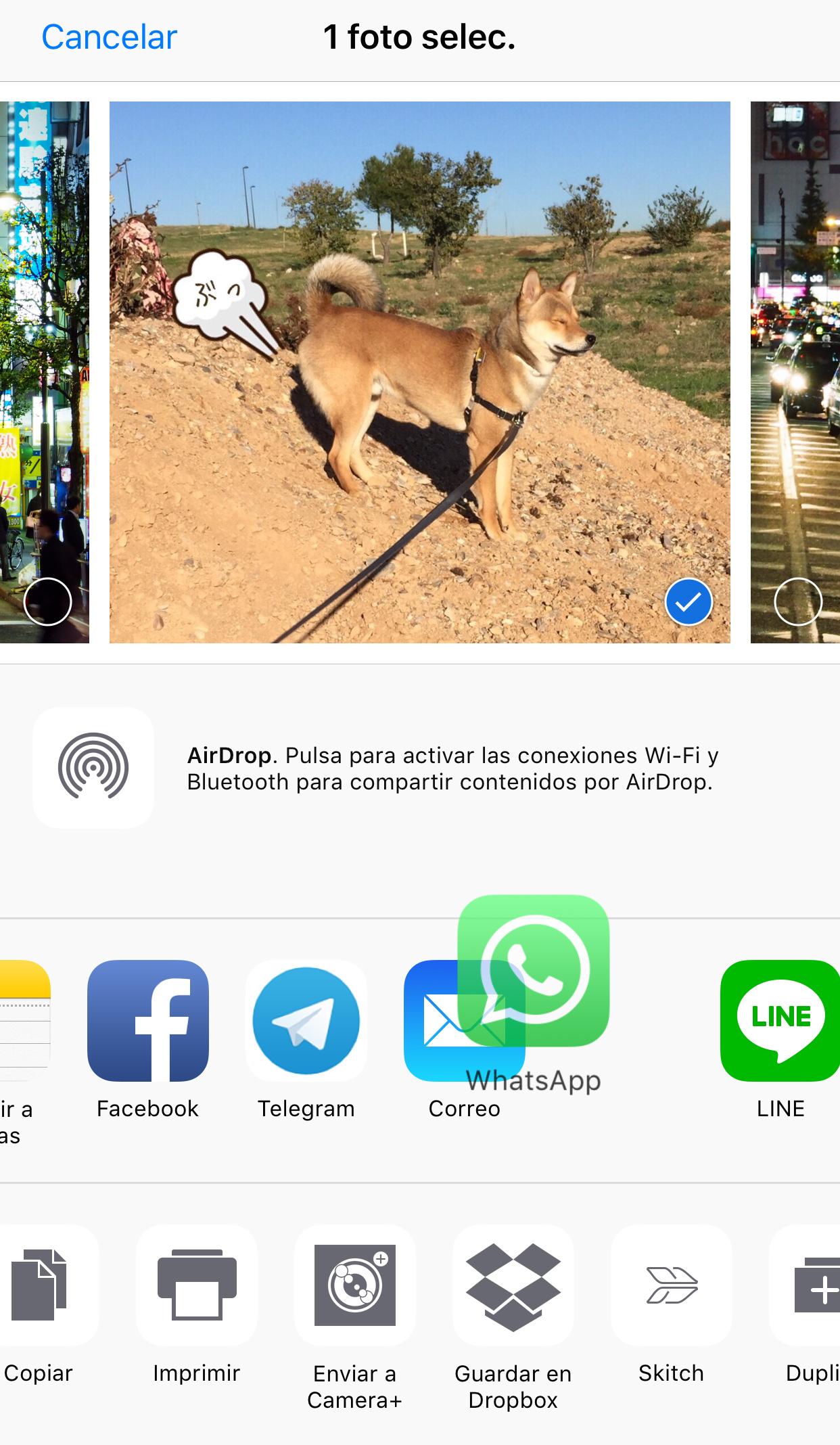Moviendo Apps con las que compartir de un lado para otro