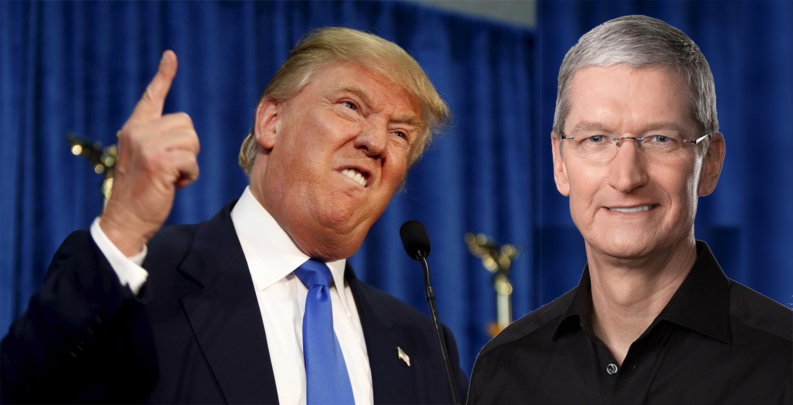 Donald Trump y Tim Cook
