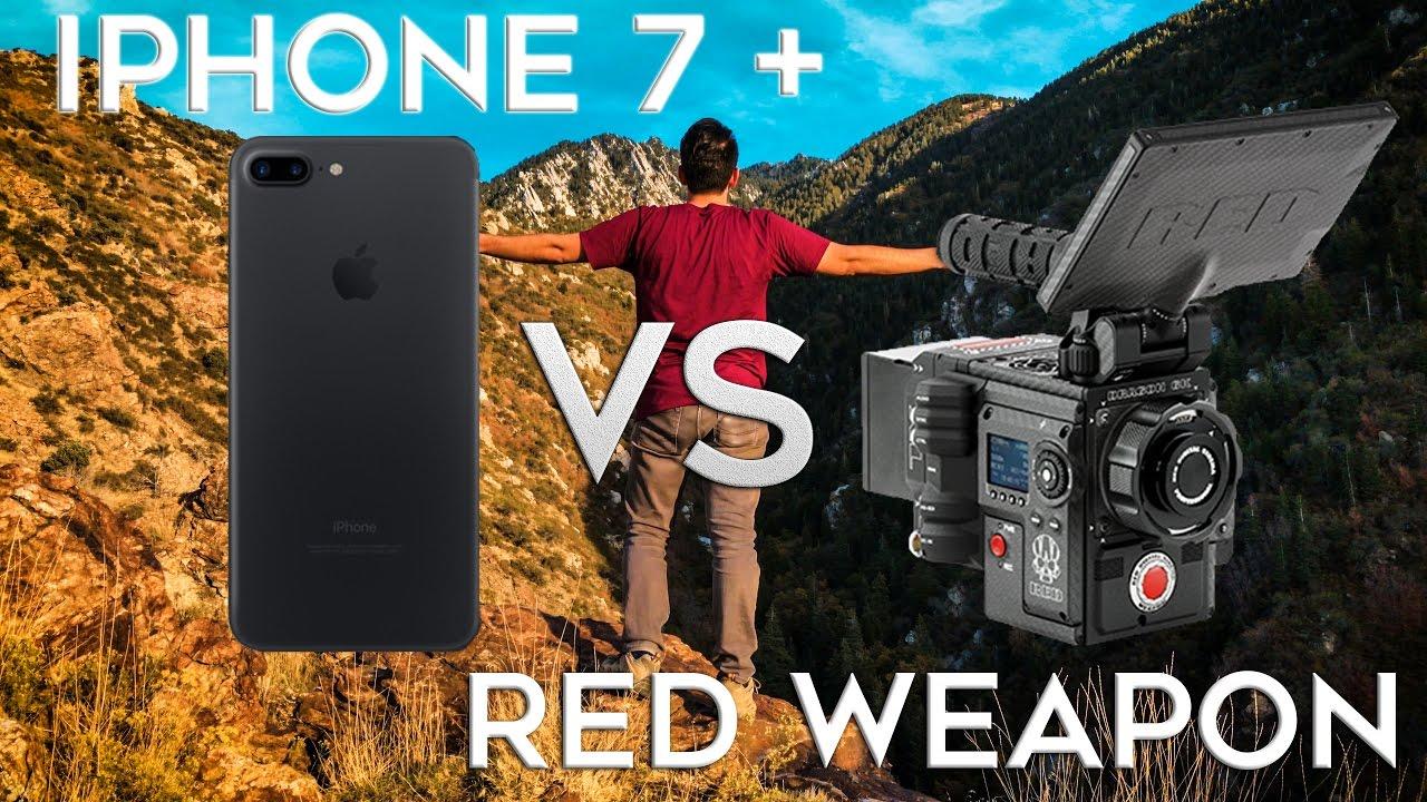 Comparación de la cámara del iPhone 7 Plus con una RED Weapon de 50.000 dólares