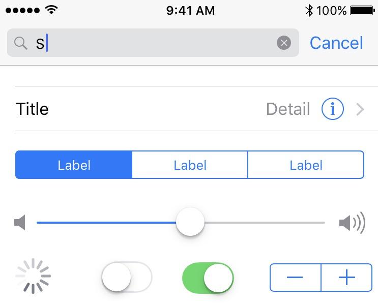 Elementos de la interface de iOS