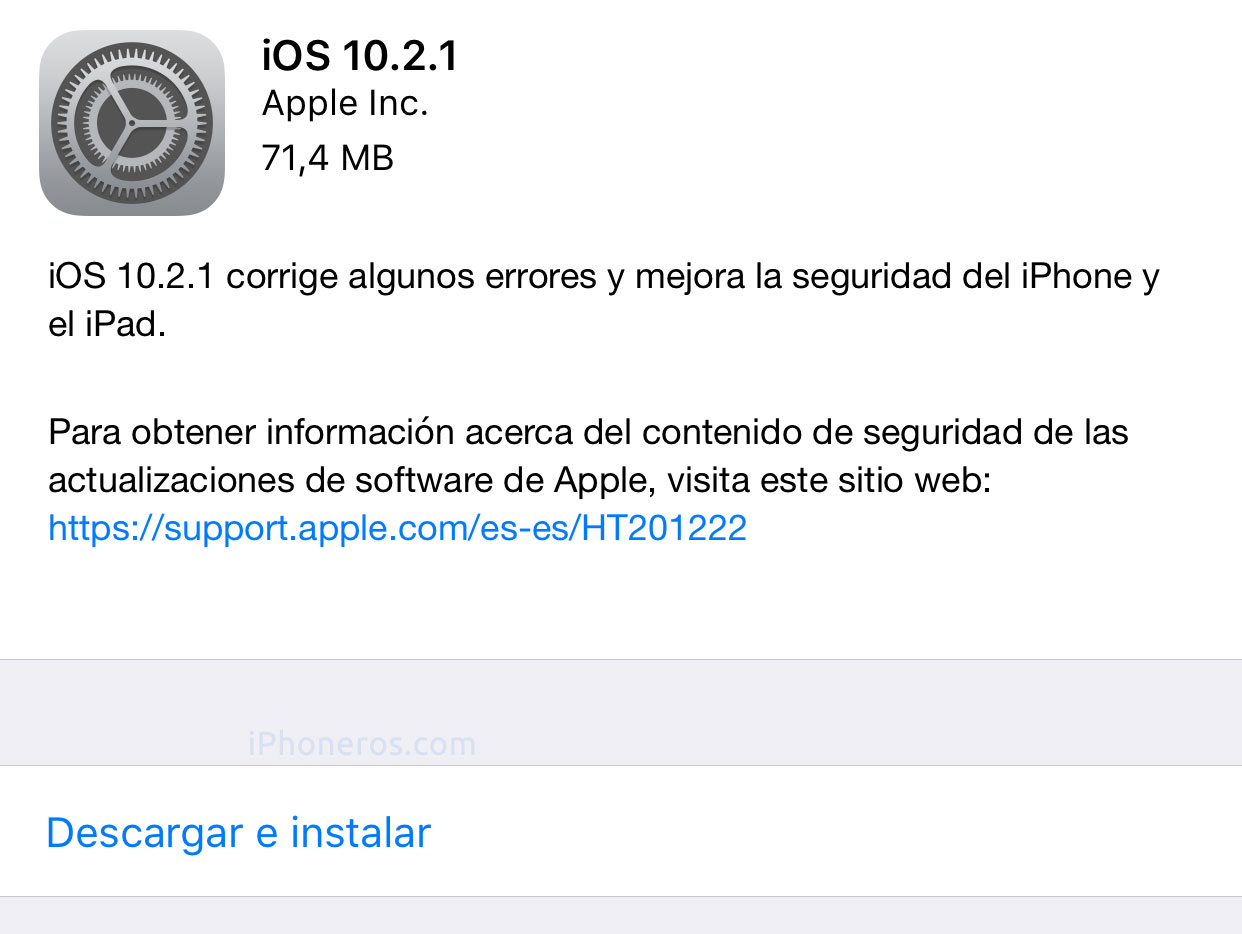 iphoneros.com - iPhoneros - Apple publica iOS 10.2.1 para iPhone / iPad / iPod touch
