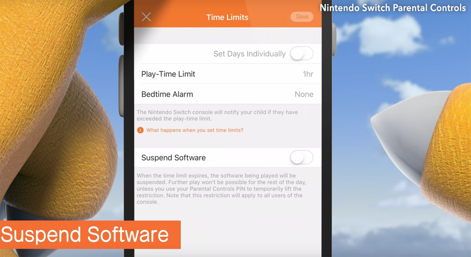 Controles parentales de la Nintendo™ Switch