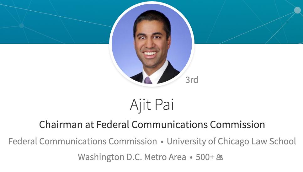 Ajit Pai, directivo de la FCC