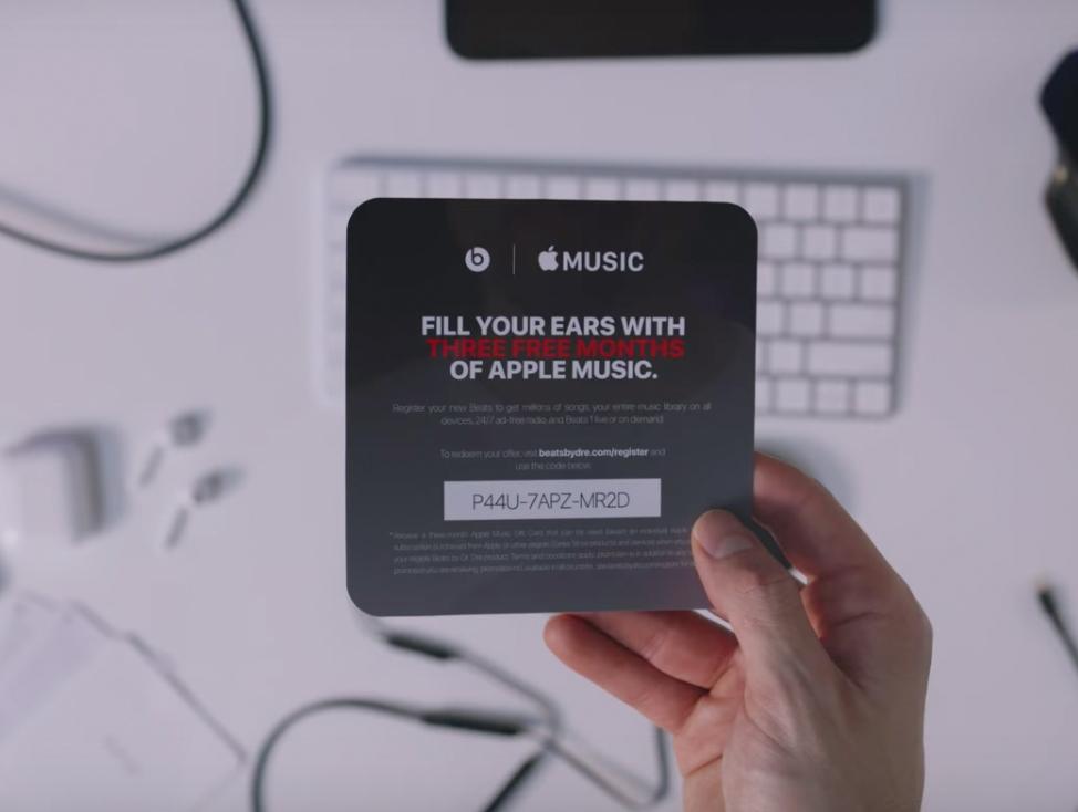 Cupón de tres meses gratis para Apple Music