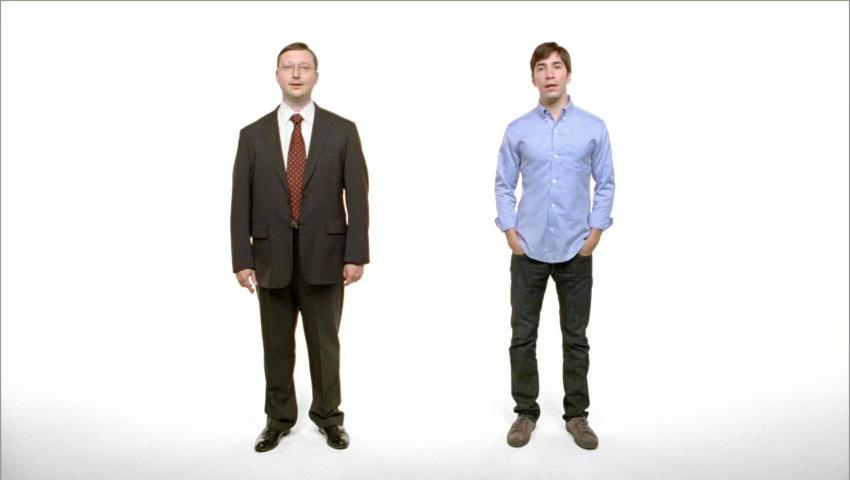 Justin Long y John Hodgman en Get a Mac