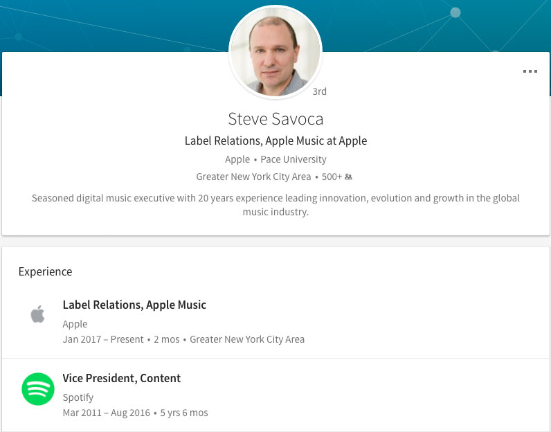 Steve Savoca en LinkedIn