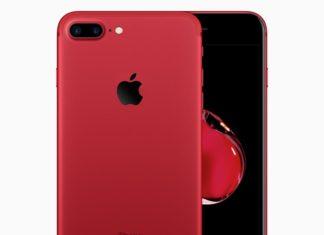 Concepto de diseño iPhone 7 rojo con frontal negro