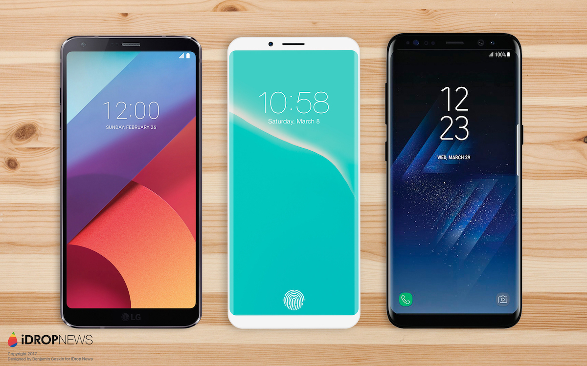 LG G7, concepto de iPhone 8, Galaxy™ S8