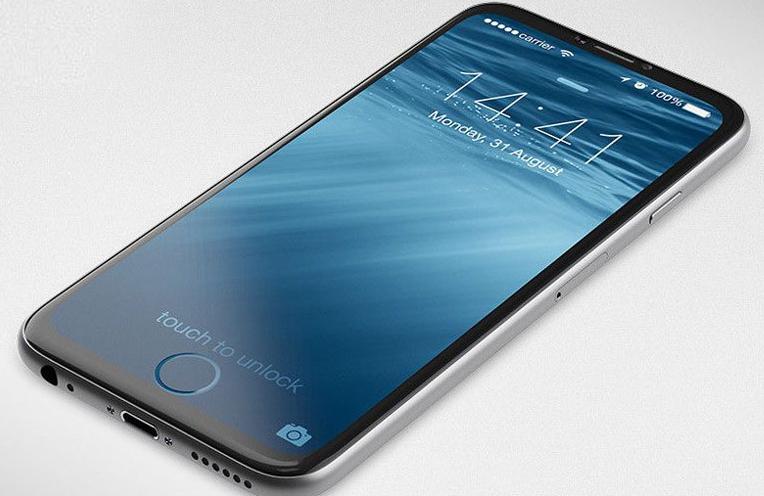 Concepto de boceto de iPhone Edition todo pantalla