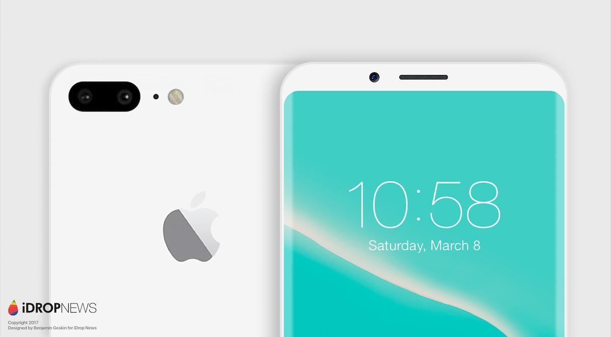 Concepto de boceto iPhone todo pantalla