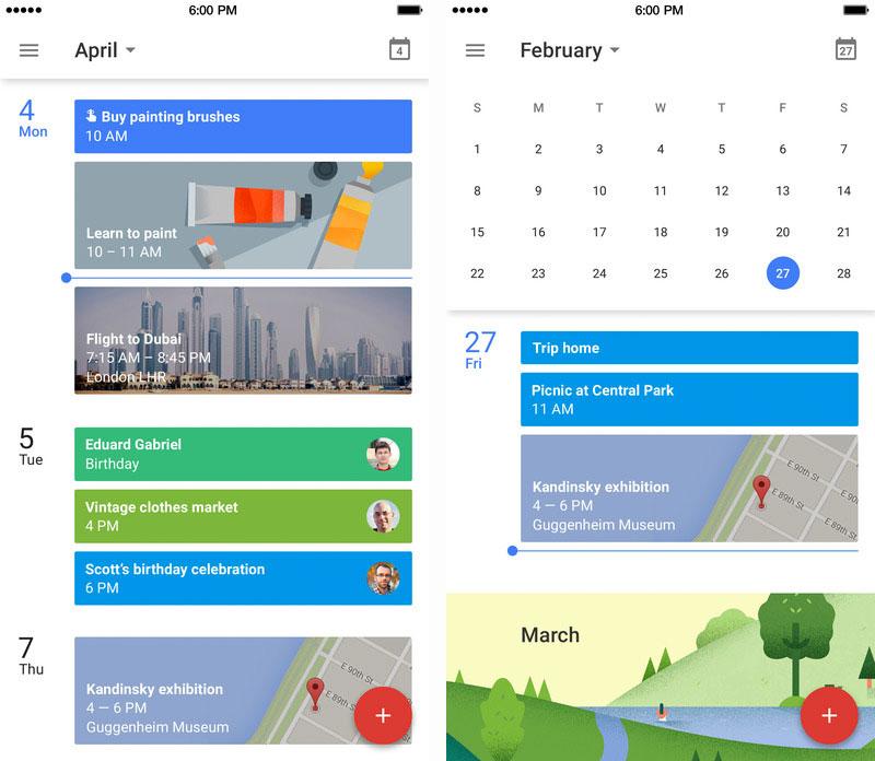 App de Google™ Calendar para iOS