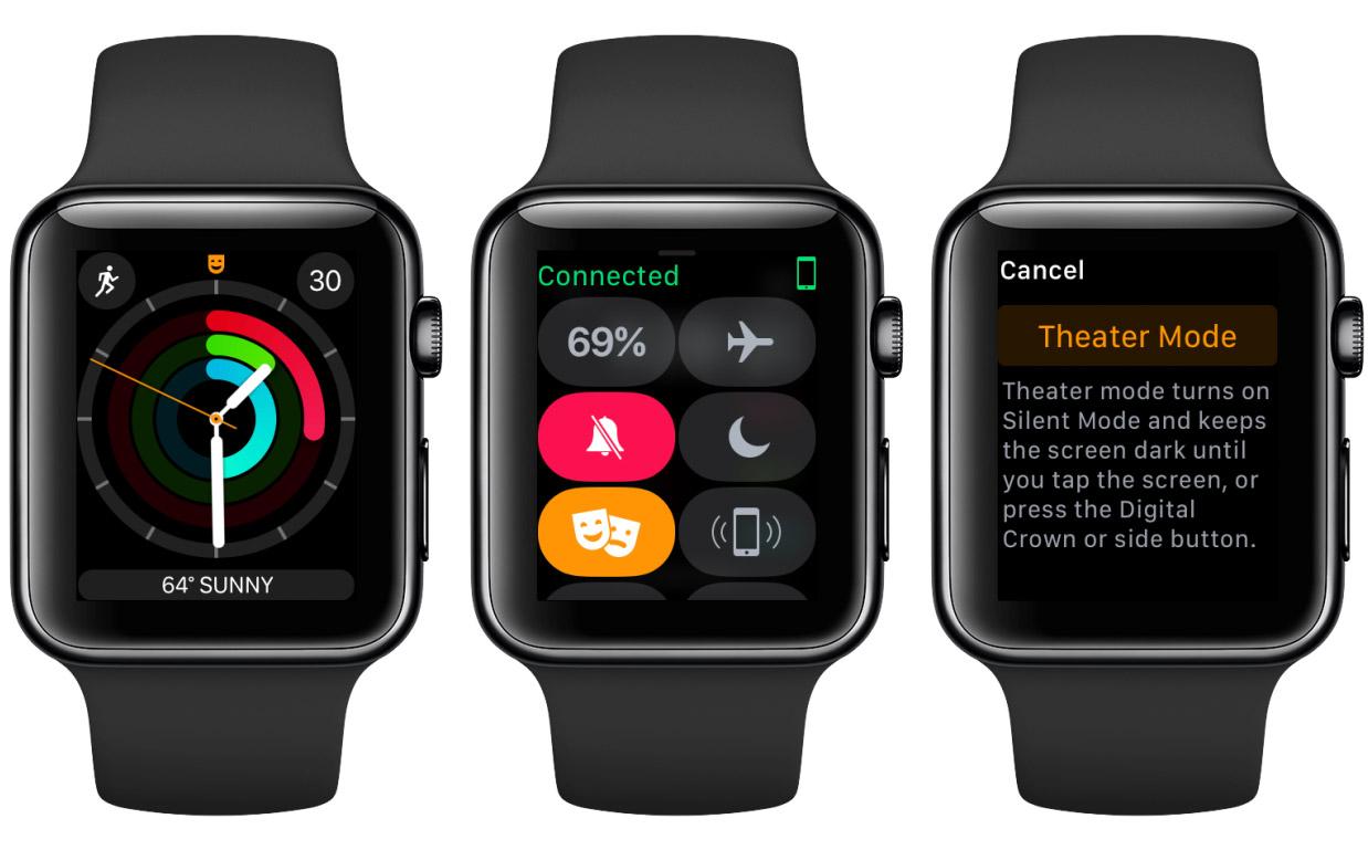 Modo cine en el Apple™ Watch