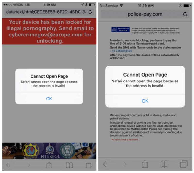 Pop-ups que bloquean Safari
