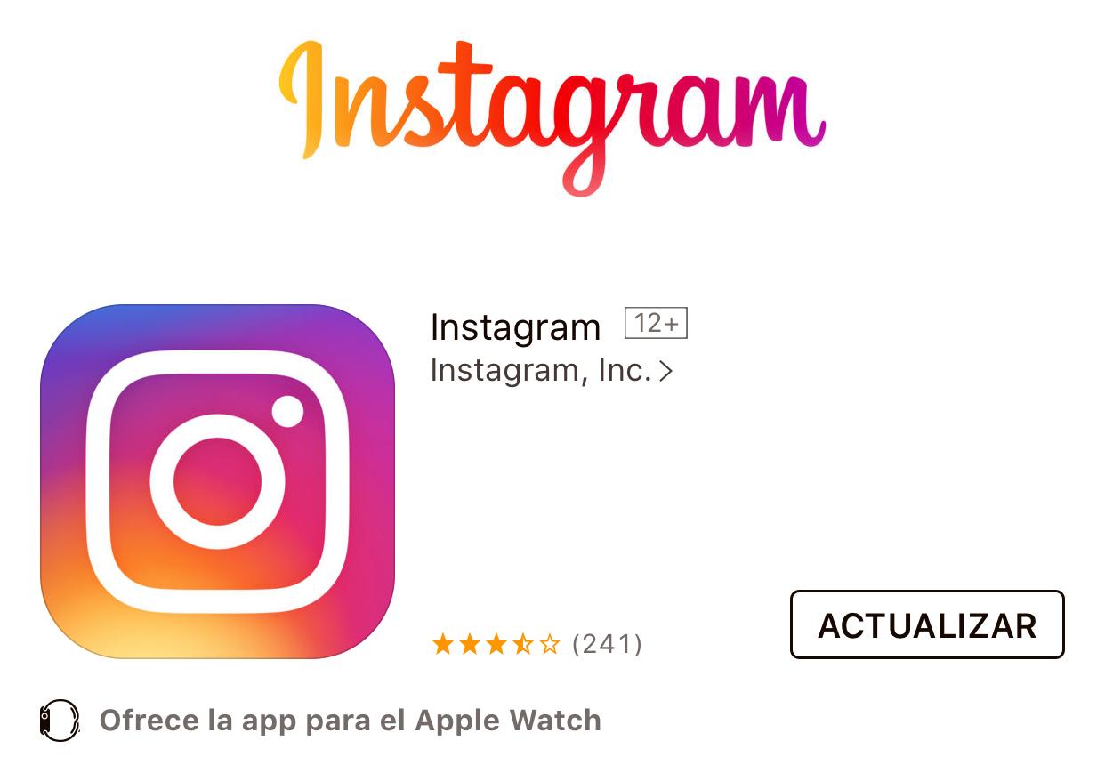 Actualización de Instagram™ disponible