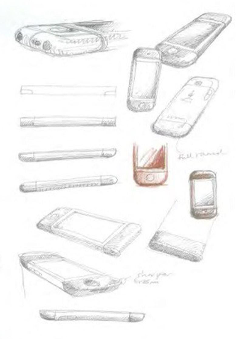 Bocetos iniciales del iPhone de Christopher Stringer