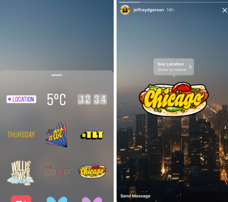 Nuevos stickers en Instagram
