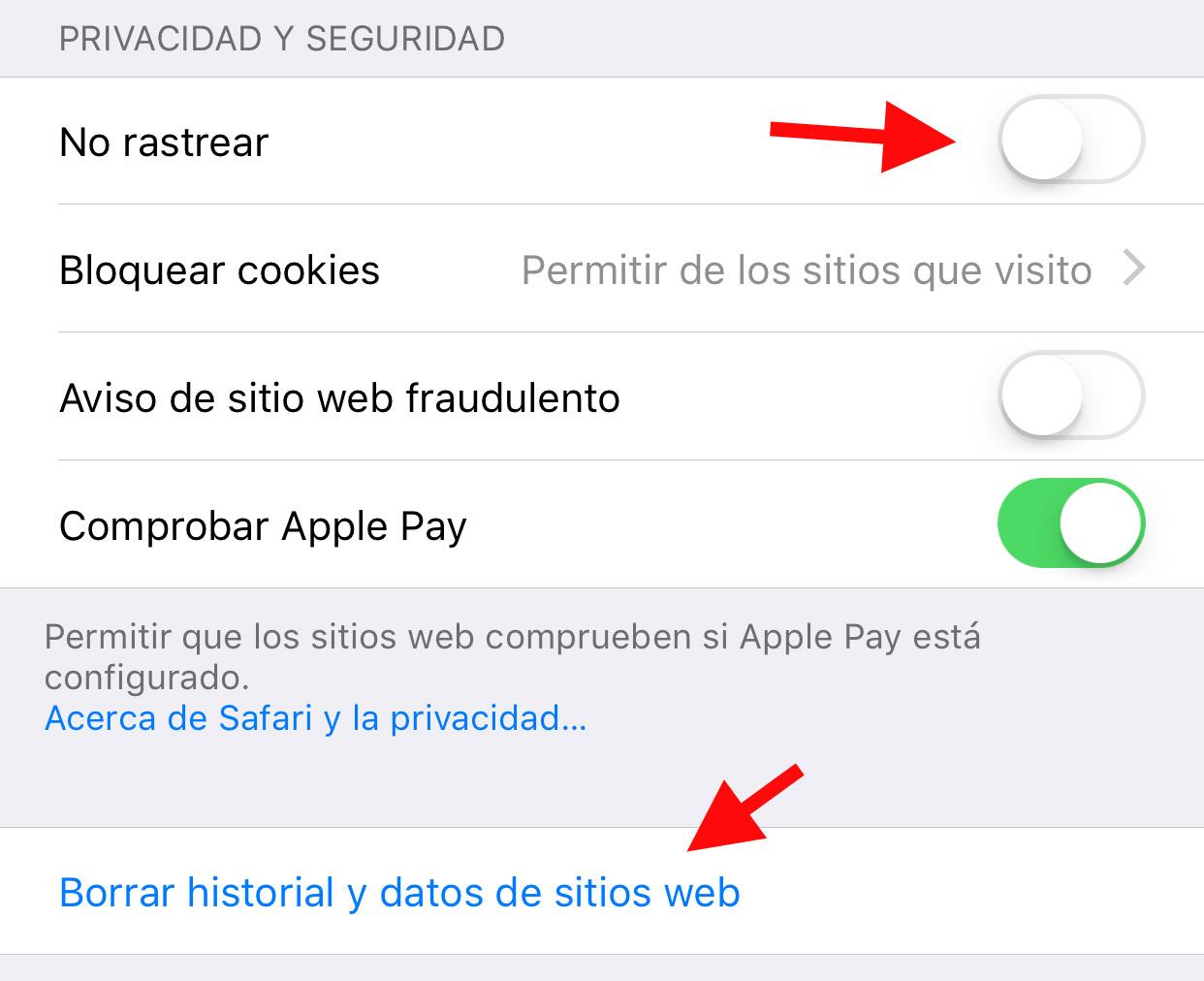 Cómo borrar las cookies de Safari en el iPhone o iPad