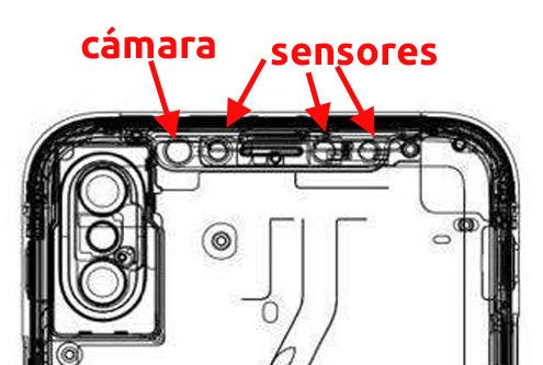 Supuestos sensores y cámara frontal del supuesto iPhone 8