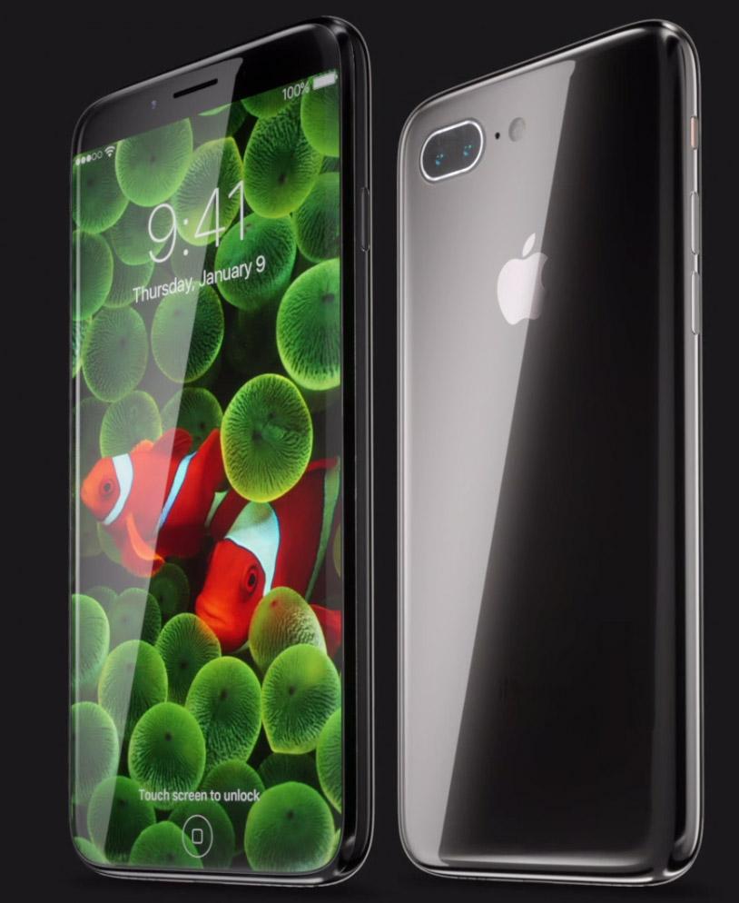 Concepto de diseño de iPhone 8 todo pantalla