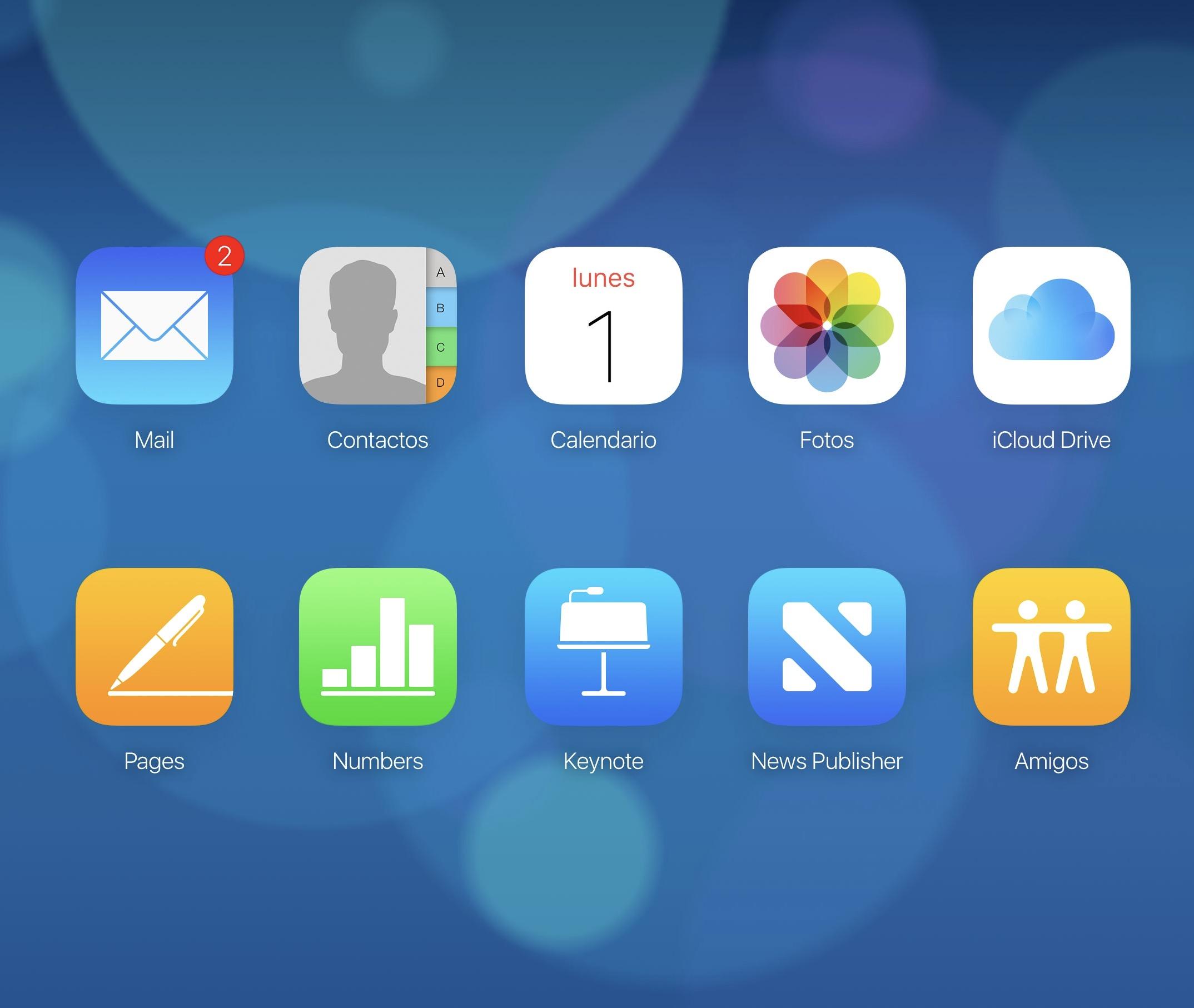 Fondo de nubes de iCloud